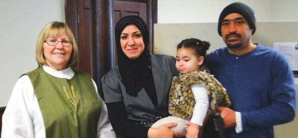 Diane with Syrian Family